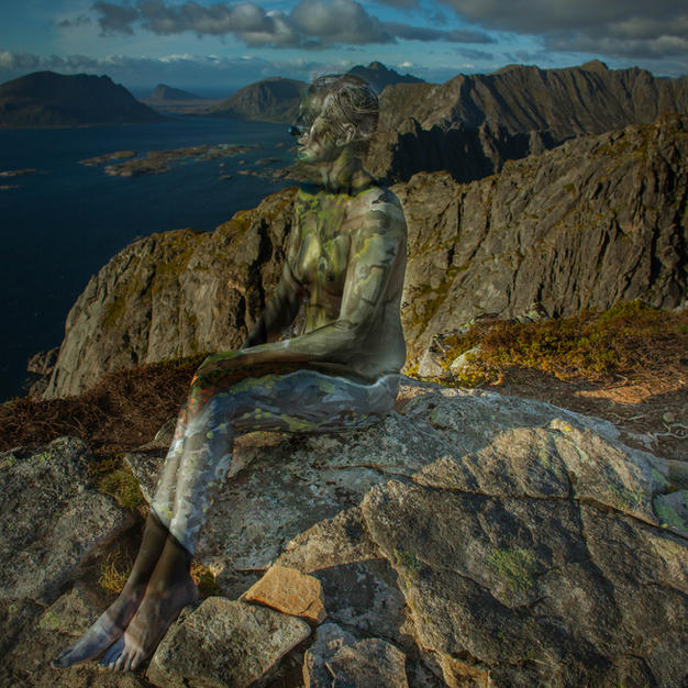 created for the Landscapes Within project. Photography and bodypainting by Vilija Vitkute / Model - Justyna S.  Location - Lofoten. Year of creation 2017