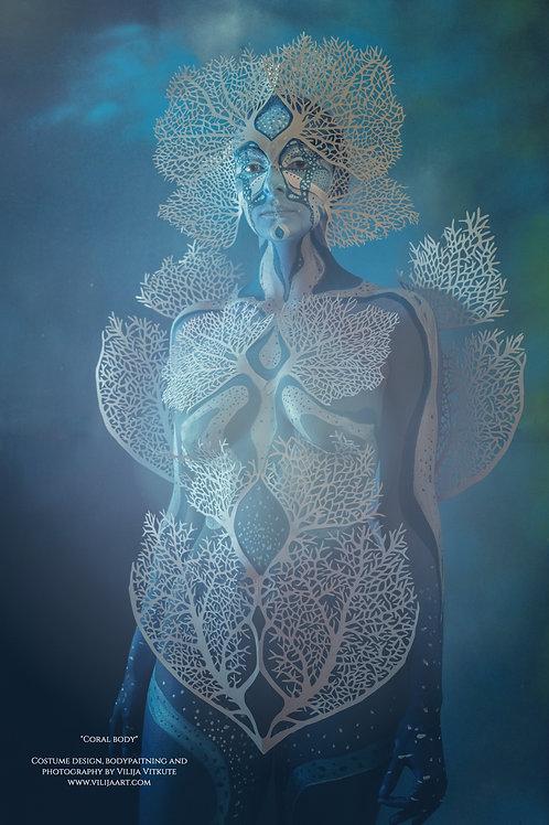 """Coral Body"" Photo poster 30x45cm"