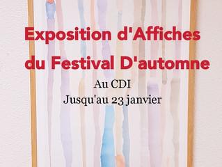 New Expo au CDI : Partenariat avec le Festival d'Automne - élèves de l'Option arts plastiques 2nde