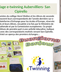 Programme de jumelage e-twinning Aubervilliers- San Cipirello