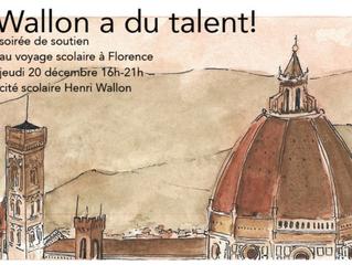 Wallon a du talent ! Soirée de soutien le jeudi 20 décembre de 16h à 21h