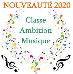 Nouveauté 2020 : Classe Ambition Musique