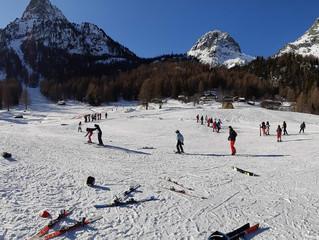 Des collégiens de Wallon au ski