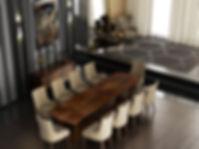 Luxuriöser Nussbaum-Esstisch im Book-Match-Design, 10 Sitzer