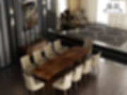 Our Kensington dining table in stunning rare Claro-walnut. The wood has been espcially sourced to create this one-off table.