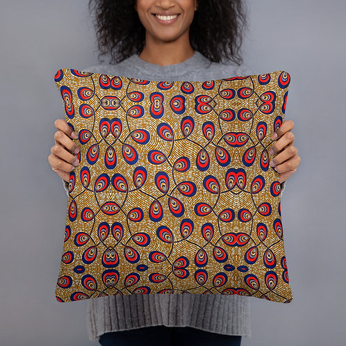 Loops On Gold Pillow