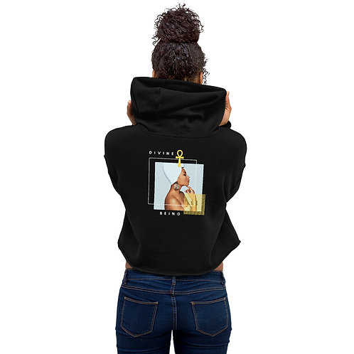'Divine Being' Crop Hoodie