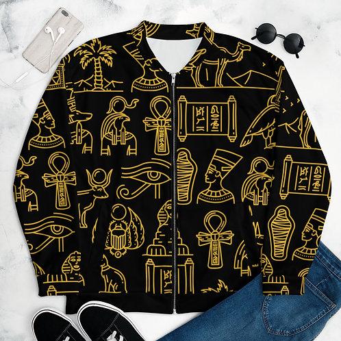 Unisex Hieroglyph Bomber Jacket