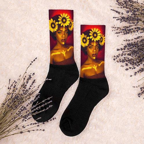 Sunflower Goddess Socks
