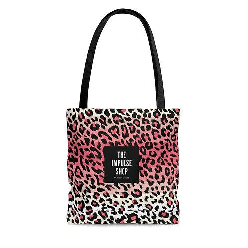 Pink Leopard Tote Bag