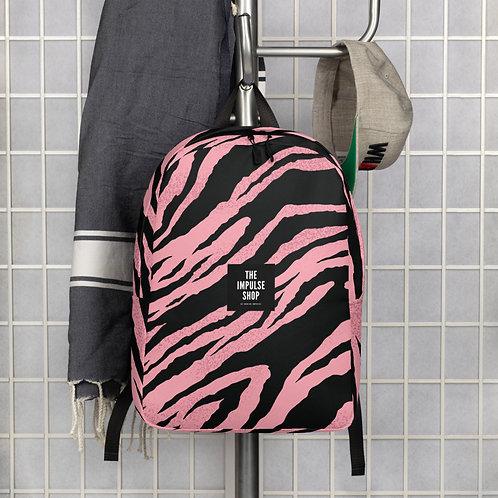 Pink Zebra Minimalist Backpack