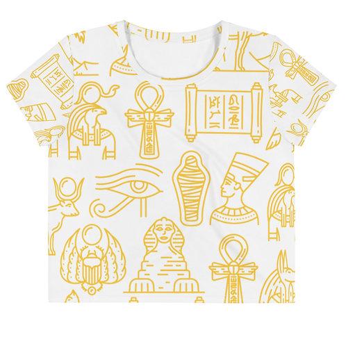 Hieroglyph Crop Tee