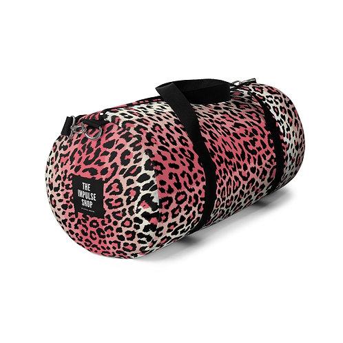 Pink Leopard Duffel Bag