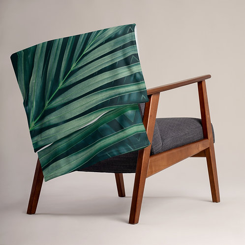 Leaf Pattern Throw Blanket