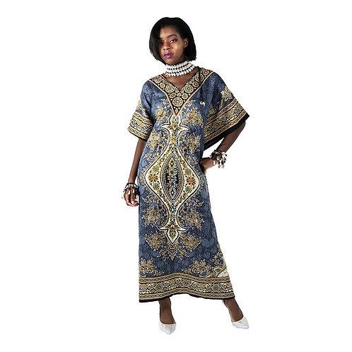 Blue Batik Lounge Dress