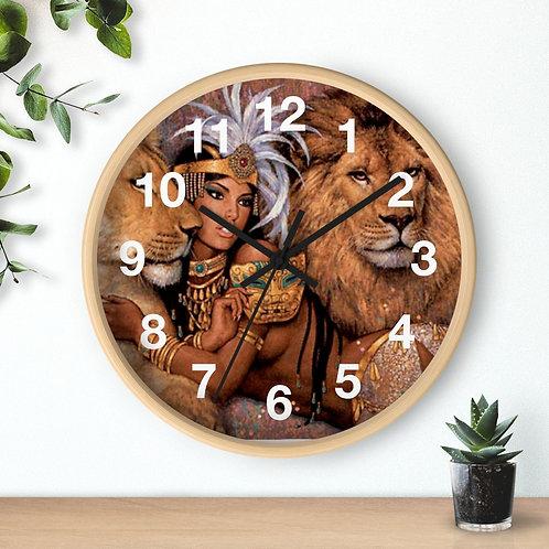 Lion Goddess Clock