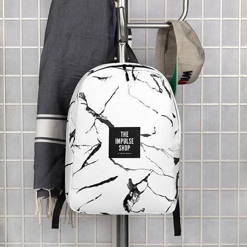 Marble Print Minimalist Backpack