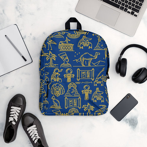 Royal Blue Hieroglyph Backpack