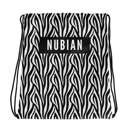 Zebra Print Drawstring bag