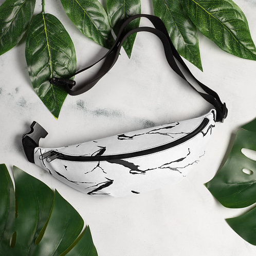 Marble Print Fanny Pack