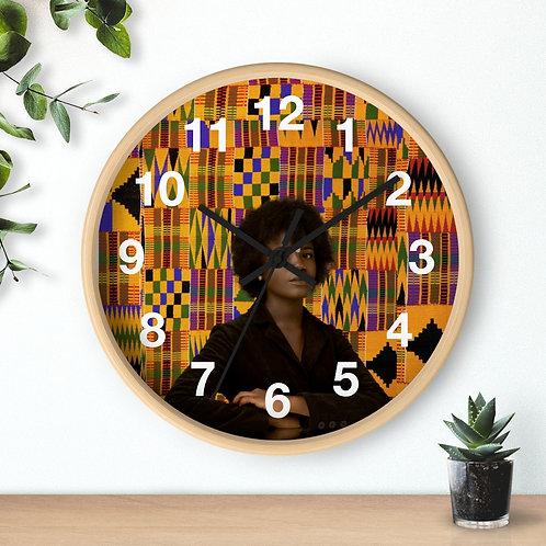 Kente Queen clock