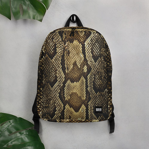 Snake Print Backpack