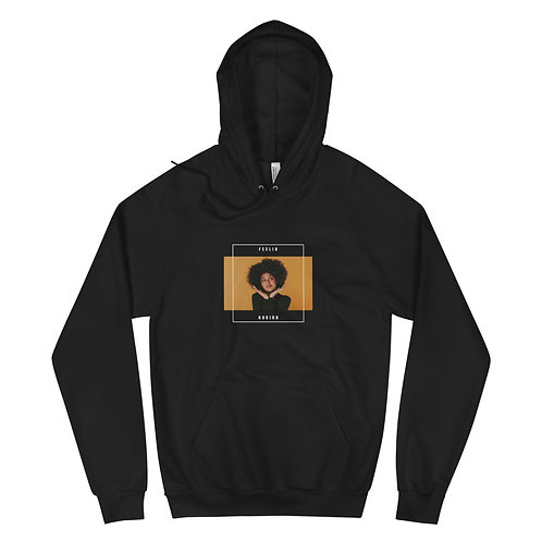 Black 'Feeling Nubian' Fleece Hoodie