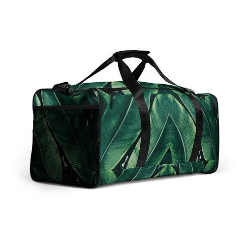 Big Leaf Print Duffle Bag