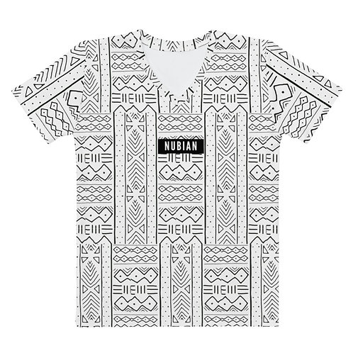 White Cloth Pattern V-neck
