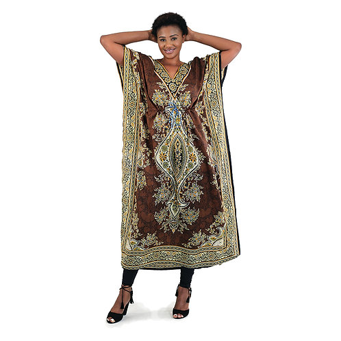 Brown Batik Lounge Dress