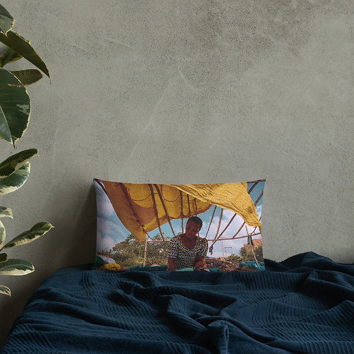 Premium African Market Pillow