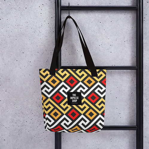 Red Nubian Maze Tote bag