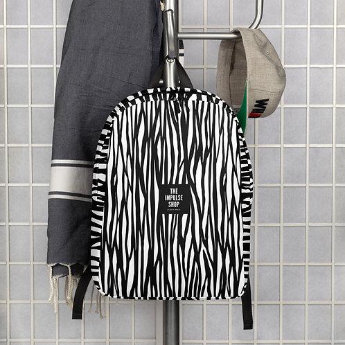 Zebra Print Minimalist Backpack