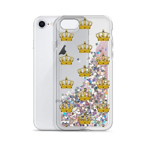 Crown Glitter Phone Case