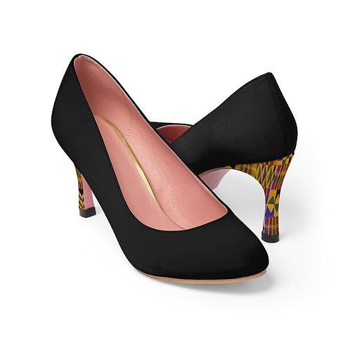 Black w/Kente Heel