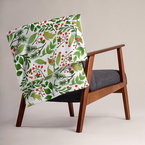 Green Pine Throw Blanket