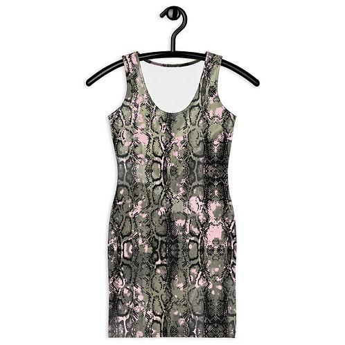 Black & Pink Snake Print Dress