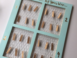 DIY: Our Semi-Rustic Seating Chart