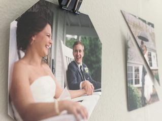 DIY: Geo-hanging Wedding Photo Gallery