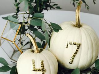 Easy + Cheap DIY Pumpkin Table Numbers