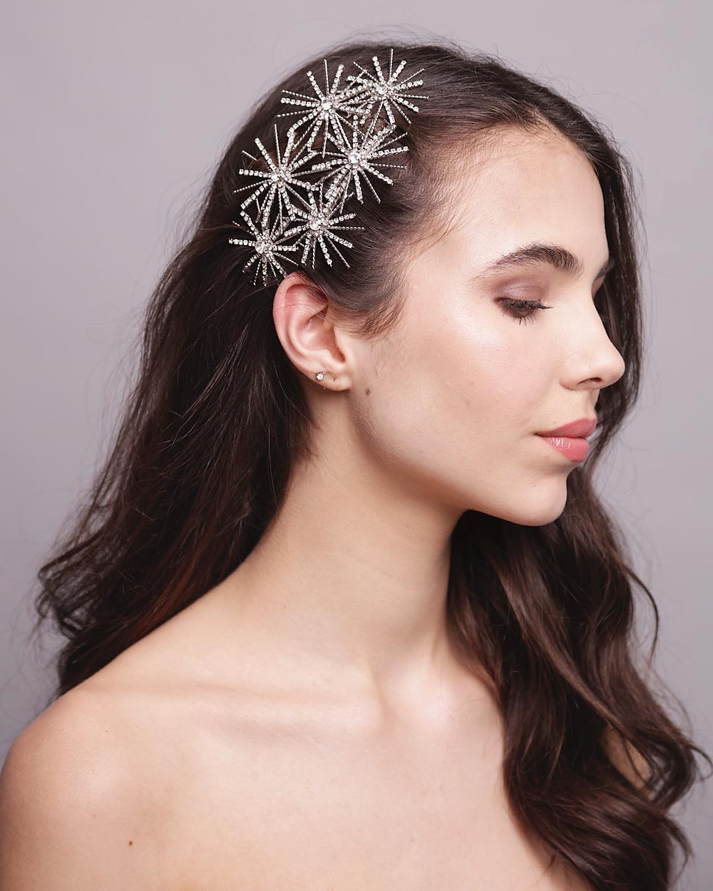 The Aurea Rays swarovski crystal headpieces by Aura Headpieces