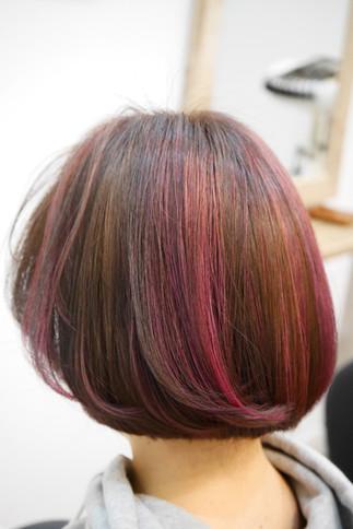 ヴァイオレットとピンクを使ったデザインカラー♪