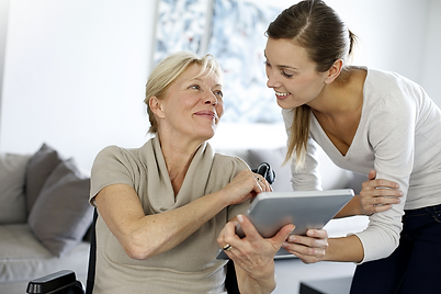 girl and woman with tablet transparent.p