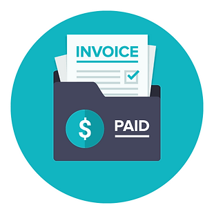 decorative image of invoices in an envelope