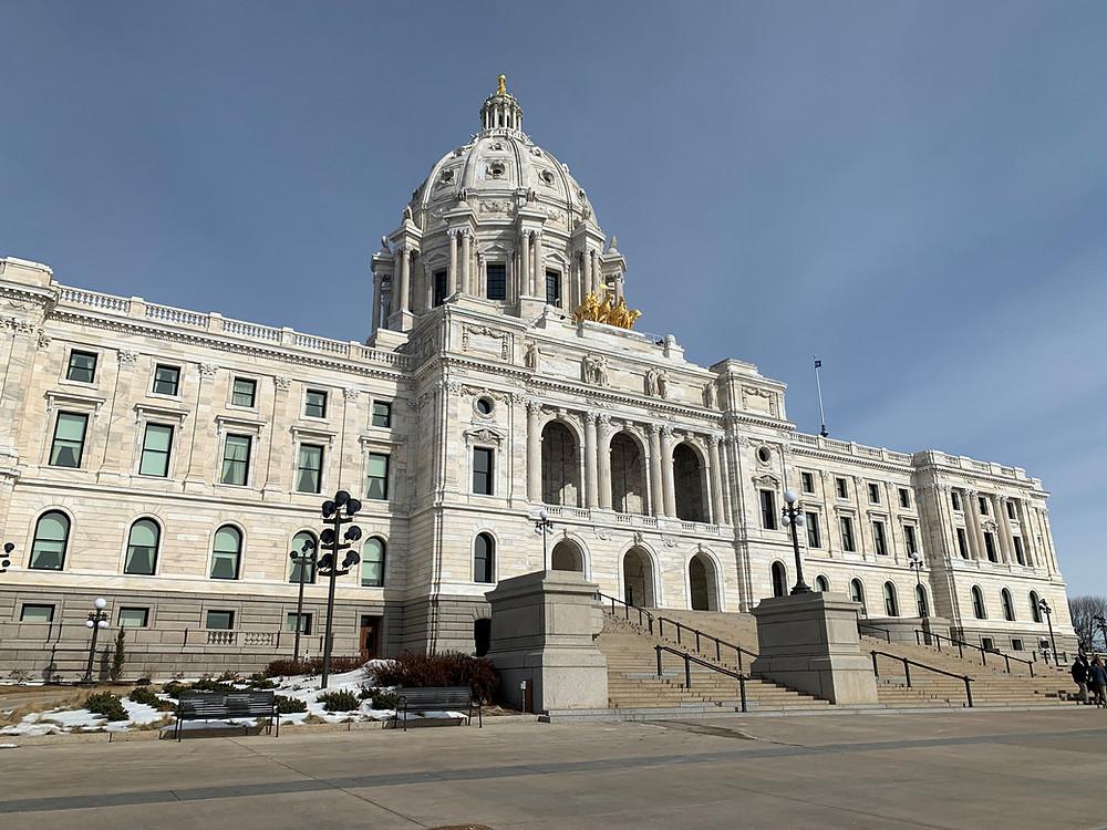 exterior of Minnesota Capitol building
