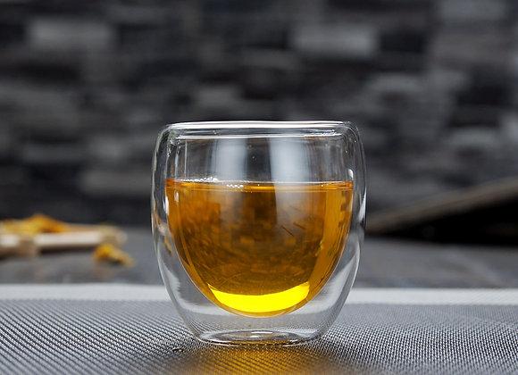 Tasse en verre à double paroi 80ml