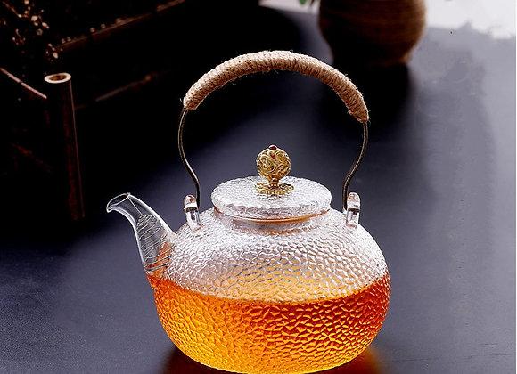 Théière en verre artisanale-style japonais