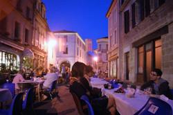 Saturday night repas in Lauzun