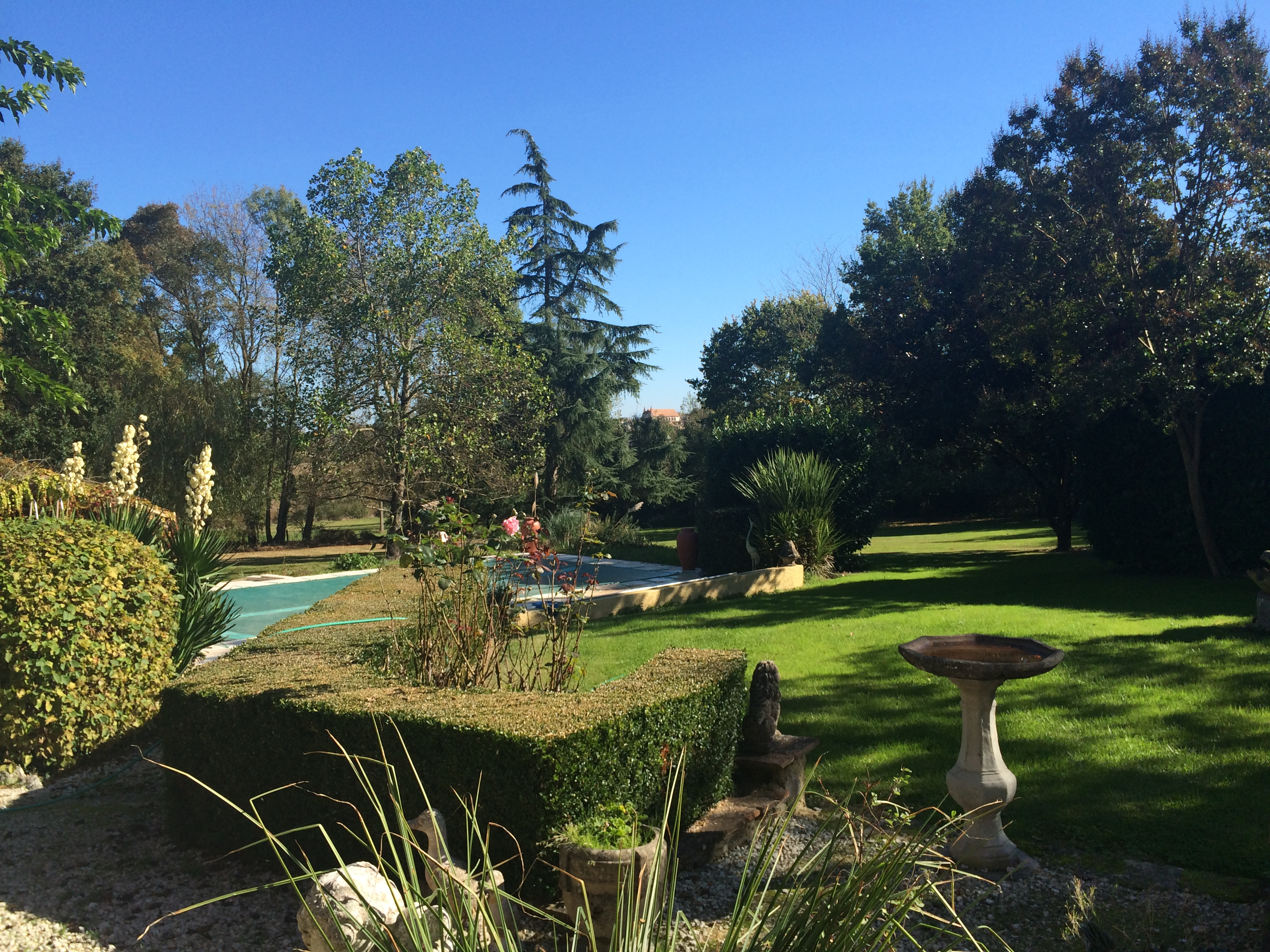 Garden and pool at Beausoleil