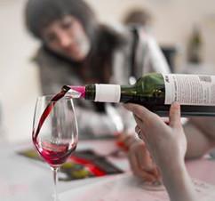 Wine tasting at Domaine de Grand Mayne.j